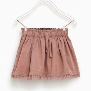 ⏰LAST CHANCE⏰ ZARA Baby Pink Corduroy Skirt